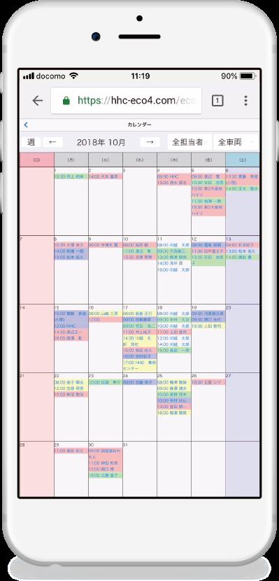 ECOPROマスターカレンダー機能